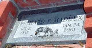 MADDUX, RICHARD F. - Maricopa County, Arizona | RICHARD F. MADDUX - Arizona Gravestone Photos