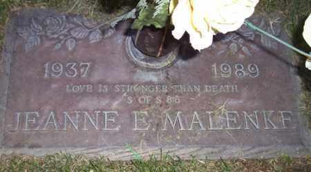 MALENKE, JEANNE E. - Maricopa County, Arizona   JEANNE E. MALENKE - Arizona Gravestone Photos