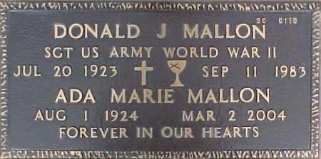 MALLON, ADA MARIE - Maricopa County, Arizona   ADA MARIE MALLON - Arizona Gravestone Photos