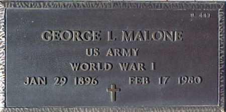 MALONE, GEORGE L. - Maricopa County, Arizona | GEORGE L. MALONE - Arizona Gravestone Photos