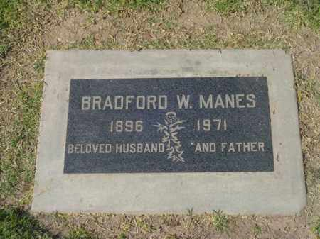 MANES, BRADFORD W. - Maricopa County, Arizona   BRADFORD W. MANES - Arizona Gravestone Photos