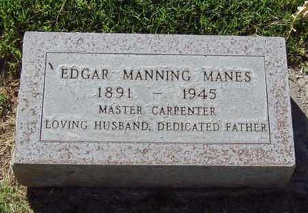 MANES, EDGAR MANNING - Maricopa County, Arizona   EDGAR MANNING MANES - Arizona Gravestone Photos