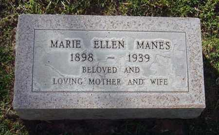 MANES, MARIE ELLEN - Maricopa County, Arizona | MARIE ELLEN MANES - Arizona Gravestone Photos