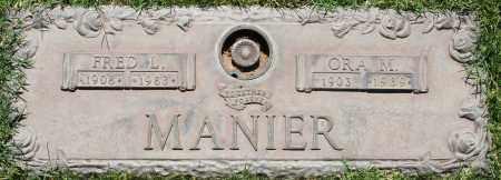 MANIER, ORA M - Maricopa County, Arizona | ORA M MANIER - Arizona Gravestone Photos