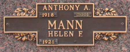 MANN, HELEN F - Maricopa County, Arizona | HELEN F MANN - Arizona Gravestone Photos