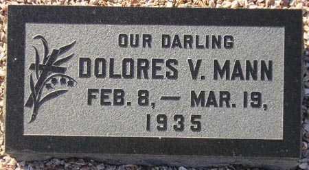 MANN, DOLORES V. - Maricopa County, Arizona   DOLORES V. MANN - Arizona Gravestone Photos