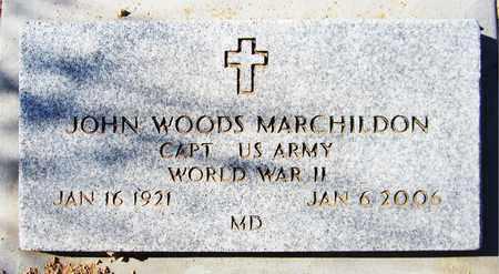 MARCHILDON, JOHN WOODS - Maricopa County, Arizona   JOHN WOODS MARCHILDON - Arizona Gravestone Photos