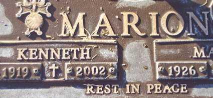MARION, KENNETH - Maricopa County, Arizona | KENNETH MARION - Arizona Gravestone Photos