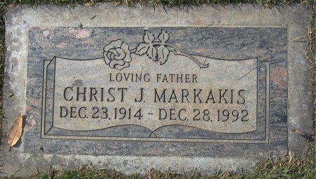 MARKAKIS, CHRIST J - Maricopa County, Arizona | CHRIST J MARKAKIS - Arizona Gravestone Photos