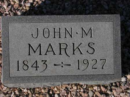 MARKS, JOHN M. - Maricopa County, Arizona | JOHN M. MARKS - Arizona Gravestone Photos