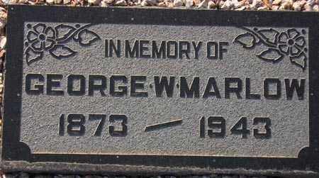 MARLOW, GEORGE W. - Maricopa County, Arizona | GEORGE W. MARLOW - Arizona Gravestone Photos