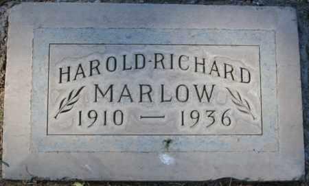 MARLOW, HAROLD RICHARD - Maricopa County, Arizona   HAROLD RICHARD MARLOW - Arizona Gravestone Photos