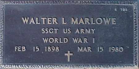 MARLOWE, WALTER L. - Maricopa County, Arizona | WALTER L. MARLOWE - Arizona Gravestone Photos
