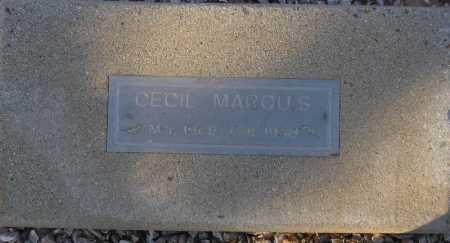 MARQUIS, CECIL - Maricopa County, Arizona | CECIL MARQUIS - Arizona Gravestone Photos