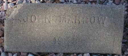 MARROW, JOHN - Maricopa County, Arizona   JOHN MARROW - Arizona Gravestone Photos