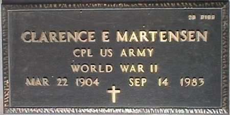 MARTENSEN, CLARENCE E. - Maricopa County, Arizona | CLARENCE E. MARTENSEN - Arizona Gravestone Photos