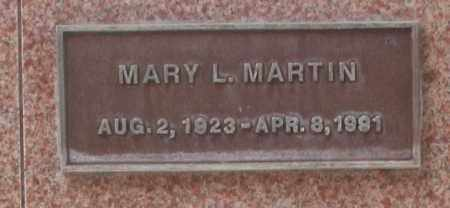 MARTIN, MARY L. - Maricopa County, Arizona | MARY L. MARTIN - Arizona Gravestone Photos