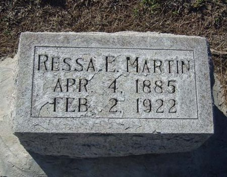 MARTIN, RESSA E. - Maricopa County, Arizona | RESSA E. MARTIN - Arizona Gravestone Photos