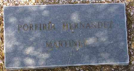 MARTINEZ, PORFIRIA HERNANDEZ - Maricopa County, Arizona | PORFIRIA HERNANDEZ MARTINEZ - Arizona Gravestone Photos
