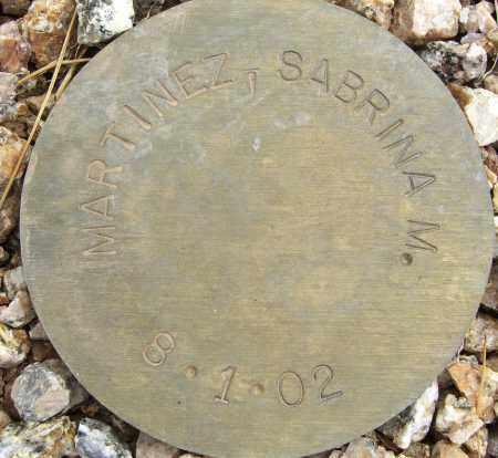 MARTINEZ, SABRINA M. - Maricopa County, Arizona | SABRINA M. MARTINEZ - Arizona Gravestone Photos