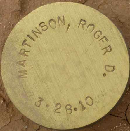 MARTINSON, ROGER D. - Maricopa County, Arizona | ROGER D. MARTINSON - Arizona Gravestone Photos
