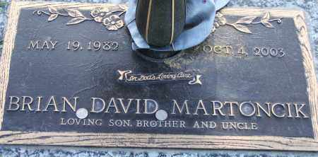 MARTONCIK, BRIAN DAVID - Maricopa County, Arizona | BRIAN DAVID MARTONCIK - Arizona Gravestone Photos