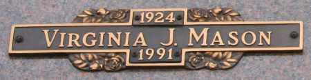 MASON, VIRGINIA J - Maricopa County, Arizona   VIRGINIA J MASON - Arizona Gravestone Photos