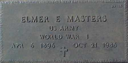 MASTERS, ELMER E - Maricopa County, Arizona   ELMER E MASTERS - Arizona Gravestone Photos