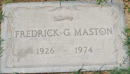 MASTON, FREDRICK G. - Maricopa County, Arizona | FREDRICK G. MASTON - Arizona Gravestone Photos