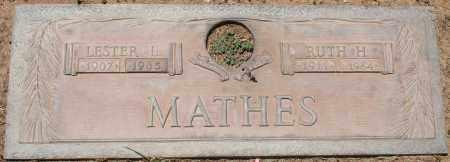 MATHES, LESTER L. - Maricopa County, Arizona   LESTER L. MATHES - Arizona Gravestone Photos