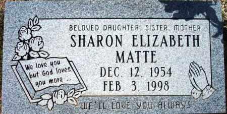 MATTE, SHARON ELIZABETH - Maricopa County, Arizona | SHARON ELIZABETH MATTE - Arizona Gravestone Photos