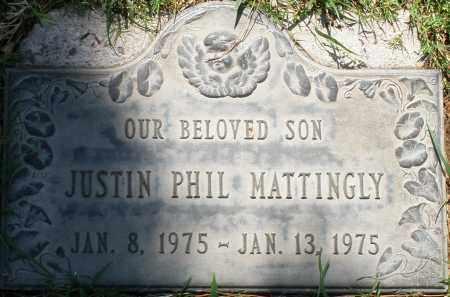 MATTINGLY, JUSTIN PHIL - Maricopa County, Arizona | JUSTIN PHIL MATTINGLY - Arizona Gravestone Photos