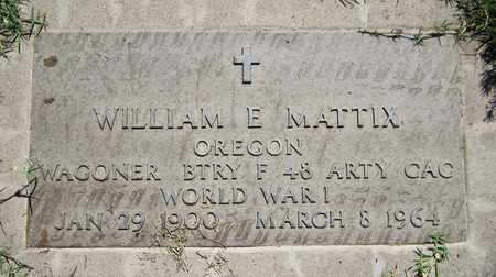 MATTIX, WILLIAM E. - Maricopa County, Arizona | WILLIAM E. MATTIX - Arizona Gravestone Photos