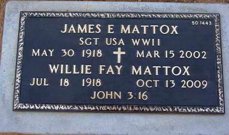 MATTOX, WILLIE FAY - Maricopa County, Arizona | WILLIE FAY MATTOX - Arizona Gravestone Photos