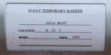 MAUZY, GAYLA - Maricopa County, Arizona | GAYLA MAUZY - Arizona Gravestone Photos