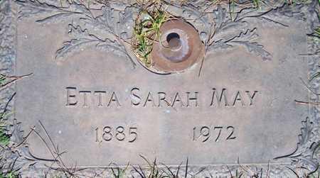 MAY, ETTA SARAH - Maricopa County, Arizona | ETTA SARAH MAY - Arizona Gravestone Photos