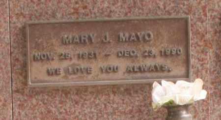 MAYO, MARY J. - Maricopa County, Arizona | MARY J. MAYO - Arizona Gravestone Photos