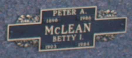 MCLEAN, PETER A - Maricopa County, Arizona   PETER A MCLEAN - Arizona Gravestone Photos