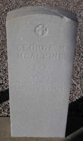MCALPINE, GEORGE M. - Maricopa County, Arizona | GEORGE M. MCALPINE - Arizona Gravestone Photos