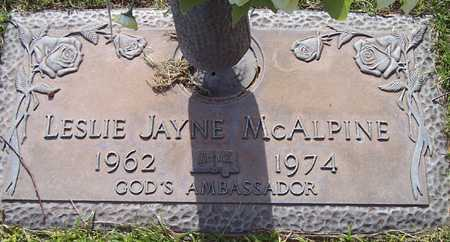 MCALPINE, LESLIE JAYNE - Maricopa County, Arizona | LESLIE JAYNE MCALPINE - Arizona Gravestone Photos