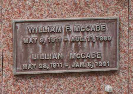 MCCABE, WILLIAM F. - Maricopa County, Arizona   WILLIAM F. MCCABE - Arizona Gravestone Photos