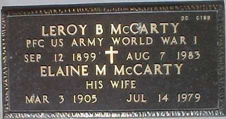 MCCARTY, LEROY B. - Maricopa County, Arizona | LEROY B. MCCARTY - Arizona Gravestone Photos