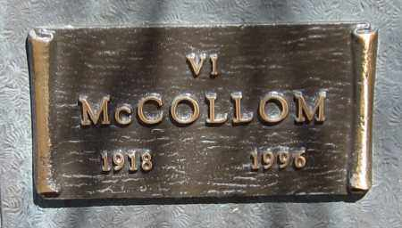 MCCOLLOM, VI - Maricopa County, Arizona | VI MCCOLLOM - Arizona Gravestone Photos