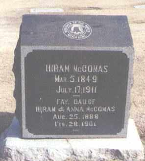 MCCOMAS, HIRAM - Maricopa County, Arizona | HIRAM MCCOMAS - Arizona Gravestone Photos