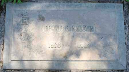 MCCOWN, FRANK ELMER - Maricopa County, Arizona | FRANK ELMER MCCOWN - Arizona Gravestone Photos