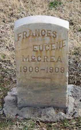 MCCREA, FRANCES EUGENE - Maricopa County, Arizona   FRANCES EUGENE MCCREA - Arizona Gravestone Photos