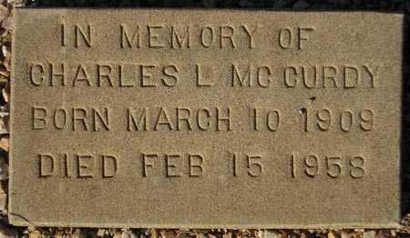 MCCURDY, CHARLES L. - Maricopa County, Arizona   CHARLES L. MCCURDY - Arizona Gravestone Photos
