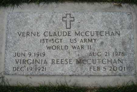 MCCUTCHAN, VIRGINIA - Maricopa County, Arizona | VIRGINIA MCCUTCHAN - Arizona Gravestone Photos