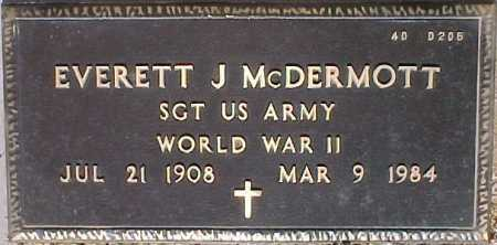 MCDERMOTT, EVERETT J. - Maricopa County, Arizona | EVERETT J. MCDERMOTT - Arizona Gravestone Photos
