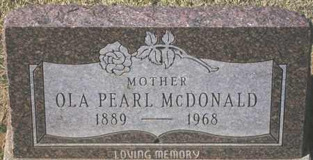 MCDONALD, OLA PEARL - Maricopa County, Arizona   OLA PEARL MCDONALD - Arizona Gravestone Photos